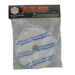 Pullman Holt B100326 Microfiber Pads 2PK for Gloss Boss Floor Polisher Cleaner