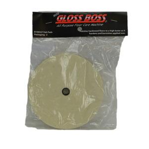 Pullman Holt B100327 Felt Pads 2 Pk for Gloss Boss Floor Polisher Cleaner