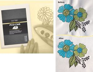 82139: OESD Perfect Embroidery Press Cloth 20x20in for Steam Irons and Ironing Press