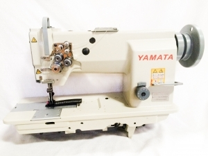 Yamata FY4400 Single Needle Compound Walking Foot Needle Feed Upholstery Sewing Machine, Assembled Power Stand, Large Hook, M Size Bobbin, Auto Oil