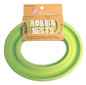 82256: Eversewn BN30G Bobbin Nest Green, Holder Ring Storage for up to 20 Metal or Plastic Bobbins