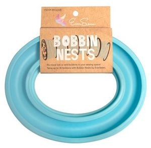 82258: Eversewn BN30SB Bobbin Nest SkyBlue Holder Ring for up to 20 Metal or Plastic Bobbins