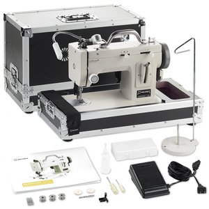 82269: Reliable Barracuda 200ZW Sewing Machine, Craftsman Kit Case, Light, Stand