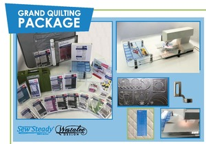 82288: Sew Steady Wish Table Grand Quilting Package, Westalee Ruler Foot, 34 Accessories