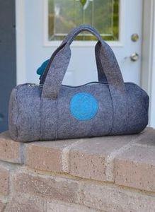 Bluefig BLDKG University Learn to Sew Kit: Li'l Duffle Bag, Lunar Grey