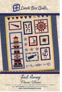 Lunch Box Quilts CQPSA1 Sail Away - Classic Series Embroidery Pattern