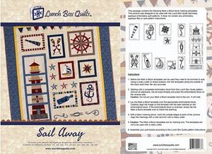 Lunch Box Quilts QPSADD Sail Away Embroidery Designs
