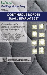 """Sew Steady 8-pc Small Continuous Borders Template Set 2"""" - 3"""""""