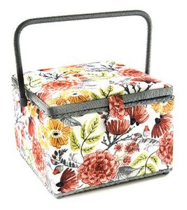 82937: Dritz Z10027161 Sewing Basket Large Square 10.5 x 10.5 x 7.75 Inches