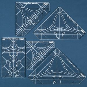 83084: Sew Steady Westalee WT-FBCTSET Flying Bell Curve Triangles Quilting Templates 5PC Set