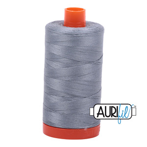 Aurifil MK50SC6-2610 Lt Blue Cotton Mako Thread 50wt 1422 Yard Spool