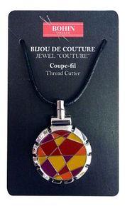 Bohin B98309 Jewel Thread Cutter Orange Necklace