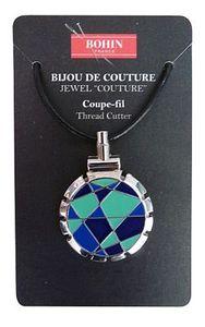 Bohin B98310 Jewel Thread Cutter  Blue Lime Necklace