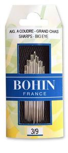 83134: Bohin BH00269 Hand Sewing Needles Sharps - Big Eye - Assorted 3/9 15ct