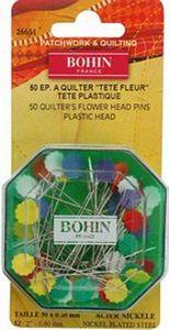 "83137: Bohin 26661 Flower Head Pins 2"" (50mm), 50ct, 5/box 5 Boxes of 50ea"