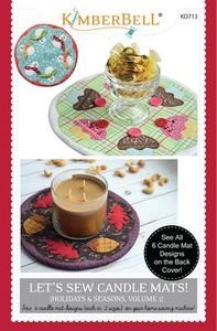 83142: KimberBell Designs KD713 Let's Sew Candle Mats! Vol. 1 CD