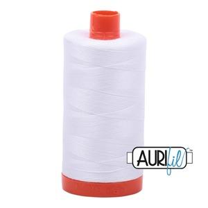 59171: Aurifil MK50SC6-2021 Natural White Cotton Mako Thread 50wt 1422 Yard Spool