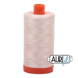 59170: Aurifil MK50SC6-2000 Light Sand Cotton Mako Thread 50wt 1422 Yard Spool