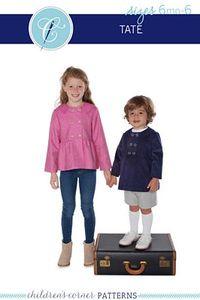 Children's Corner CC291S CC291L Tate Sewing Pattern