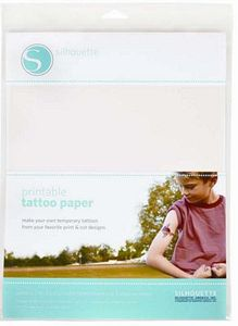 Silhouette MEDIATATTOO Tattoo Paper Temporary 2 Sheets