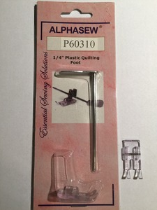 """P60310 Snap on Plastic 1/4"""" Patchwork Foot with Guide"""
