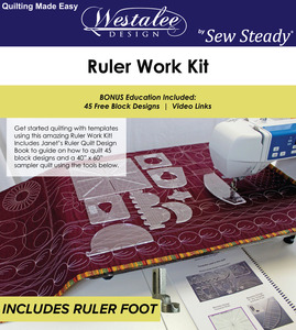 Westalee WF-RULERWORKKIT for Sew Steady Wish to Quilt Table Package
