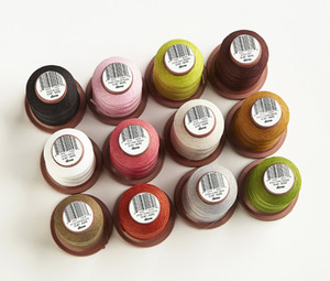 DIME VT15W-ET Vintage Chic 12 Mini King Cones, Embroidery Thread Kit-15wt Weight Poly-EARTH TONES
