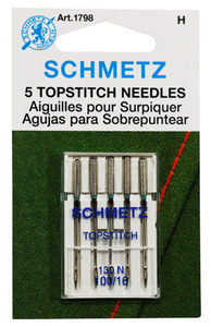 DIME Vintage Chic Schmetz Top Stitch Needles 5Pk Size 110/18 for Chic 15wt Poly Embroidery Thread