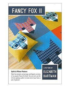 Elizabeth Hartman, EH017, Fancy Fox II, Quilting Pattern