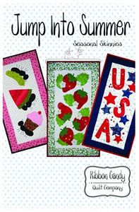 Ribbon Candy Quilt Company, RCQC544, Jump Into Summer, Seasonal, Skinny, Pattern