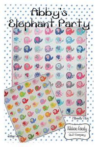 Ribbon Candy Quilt Company, RCQC588, Abby's Elephant Party