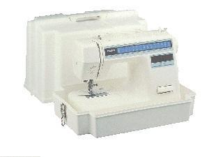 Brother, SA5300, Oversized, Universal, Hard, White, Plastic, Carrying, Case, Molded, Handle, 2, Hinges, Fits, Freearm, Sewing, Machine, Small, Embroidery, or, Sergers
