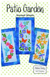 Ribbon Candy Quilt Company,RCQC587 ,Patio Garden, Pattern