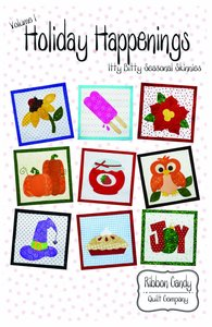 Ribbon Candy Quilt Company, RCQC605, Holiday Happenings Vol 1, Itty Bitty, Seasonal ,Pattern