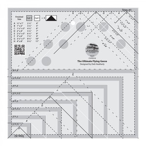 Creative Grids CGRDH4 Ultimate Flying Geese Template and Quilter Ruler
