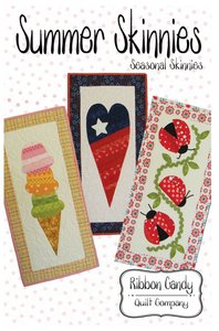 Ribbon Candy Quilt Company RCQC535 Summer Skinnies Table Runners Sewing Pattern 14x28in