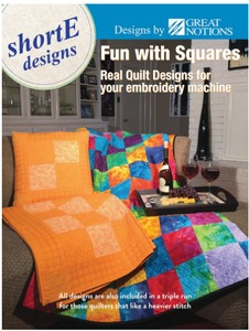 DIME FWS001 shorte Fun With Squares, 162 Quilt Designs CD for 5x7 6x10 Hoops