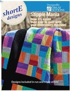 "81002: DIME SM0001 shorte Stipple Mania 159 Quilting Designs CD for 4, 5, 6"" Blocks"