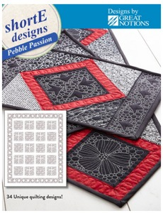 DIME PPD0100 shorte Pebble Passion, 71 Quilting Designs CD Pack for 5x7 6x10 Hoops