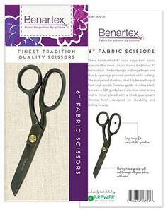 Benartex BEN726 6 inch Razor Edge Bent Trimmer Fabric Shears