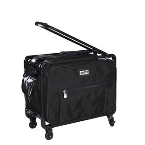 "Tutto 2009,  17"" Wide Small Sewing Machine Wheeled Roller Bag, or Travel Luggage in Black or Turquoise"