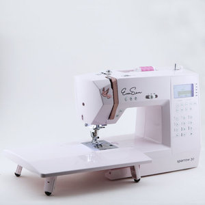 EverSewn Sparrow 30A, 310-Stitch, Computer Sewing Machine, 2 Fonts, 10x1Step BH,Start Stop,Speed Limit,Needle Up/Down,Threader & Trimmer,Drop Feed,7mm ZZ,Top Bobbin,7 Feet