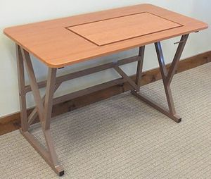 """Fashion Sewing Cabinets Model 351 Space Station II, Large 27""""x14"""" Opening for Insert"""