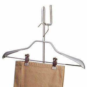 "Jiffy 0897A 3Pk 16"" Chrome Clothes Hangers 360° Swivel Hook, Pants Clips"