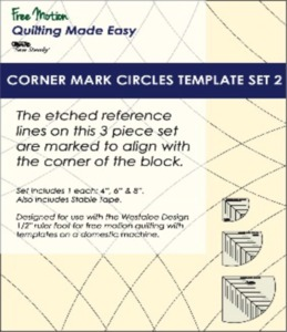 Sew Steady WT-CMC-2 Westalee Corner Mark Circles Template Set 2-3Piece Set