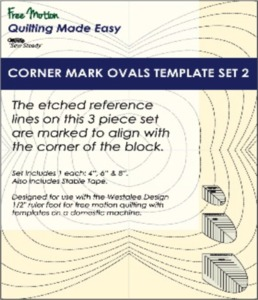 Sew Steady WT-CMO-2 Westalee Corner Mark Oval Template Set 2-3 Piece Set