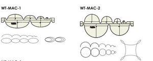 84328: Westalee WT-MAC Westalee Multi Arc Rulers Shallow Ovals, Circles, Deep Ovals, Deep Ovals 2