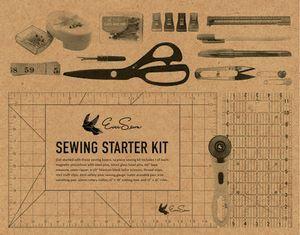 EverSewn ES-BESB Big EverSewn Sewing Starter Kit: Tailor Scissors, Clippers, Zirkle, Pins, Seam Gauge, Tape, Markers, Ripper, Cutter, Ruler, Mat