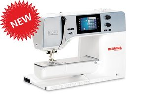 Bernina B570QE Next Generation, Optional Embroidery Module, Bernina B570QE Next Gen 450/73 Stitch Sewing Quilting Machine, 9mm Stitch Width, Dual Feed, Patchwork Foot 97, BSR Stitch Regulator, Thread Trimmers