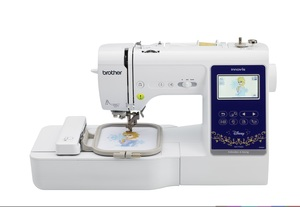 "84462: Brother NS1750D 181Stitch Sewing Quilting 4x4 Embroidery Machine, 45Disney/Pixar, Color Screen Edit, 6.2""Arm, 11Font, 4BH, 18x11 Ext Table, Case"